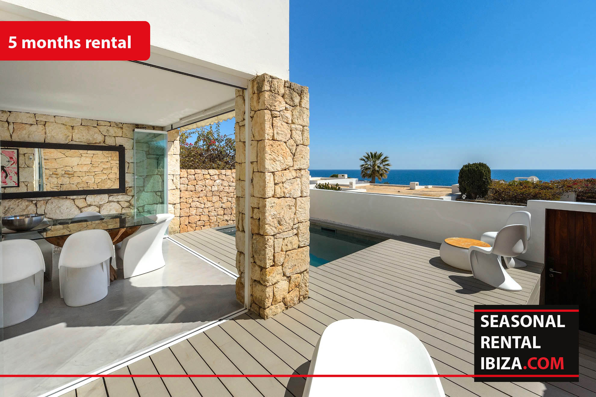 Seasonal rental Ibiza – Roca llisa Adosada